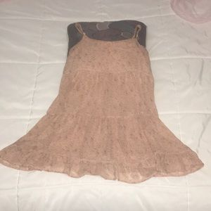 Mini dress pink net summer small